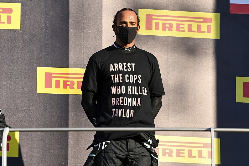 FIA looking into Hamilton anti-racism T-shirt at F1 Tuscan GP - Motor Informed