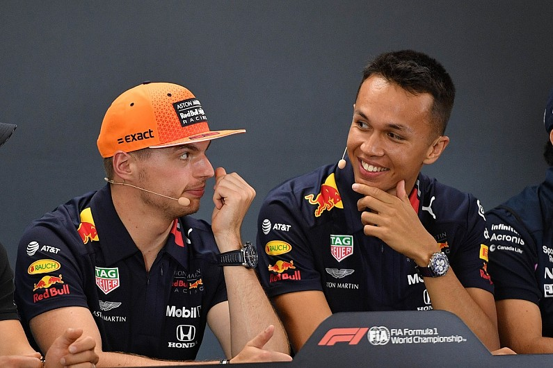 "Albon has ""same virtues"" as F1 team-mate Verstappen under pressure"