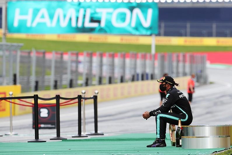 Hamilton New F1 Trophy Robots Are Weird And Ott F1 Autosport