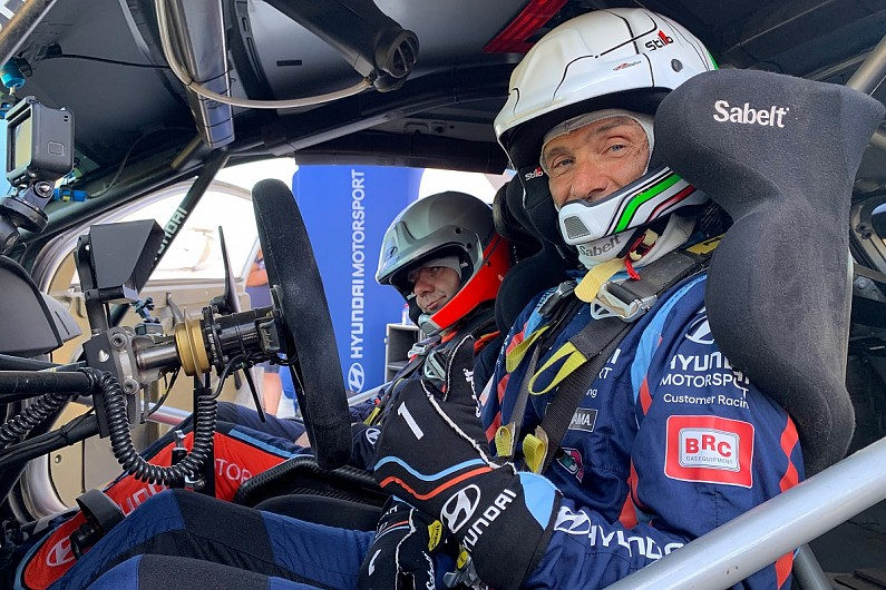 WTCR champion Gabriele Tarquini tries Hyundai World Rally Car