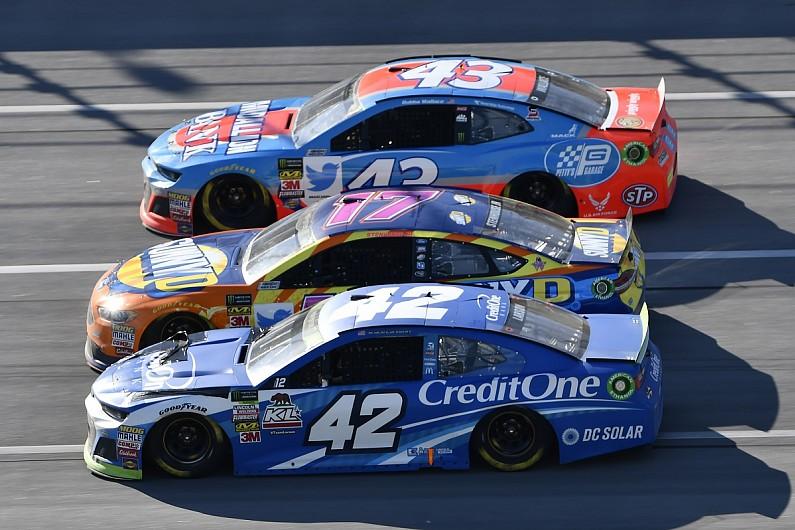 Kyle Larson's speed at Talladega NASCAR Cup race 'embarrassing' - NASCAR - Autos...