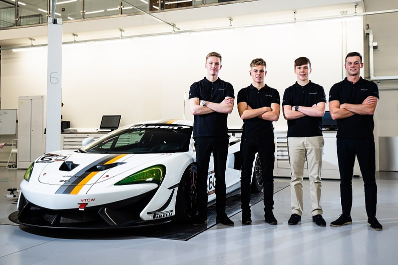 mclaren automotive signs new drivers to driver development scheme