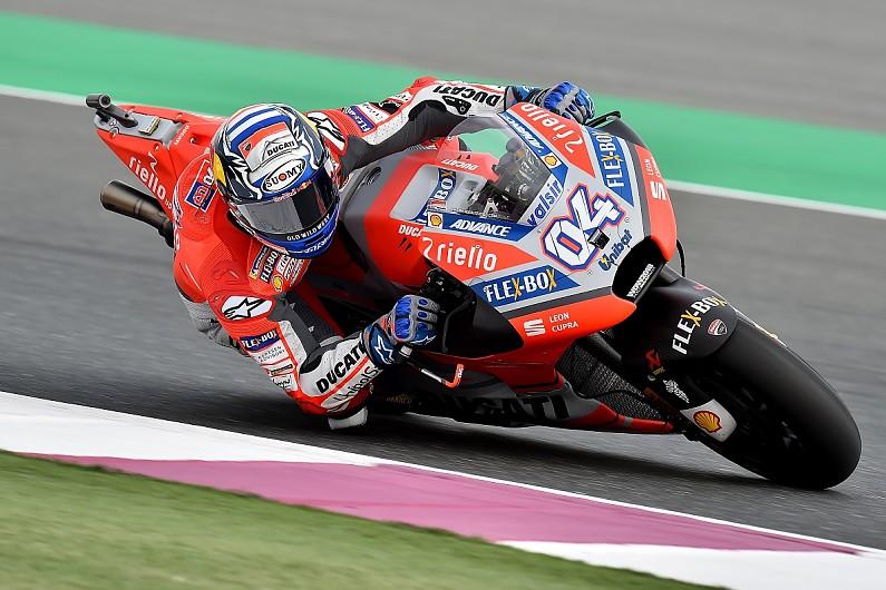 Motogp Qatar Dovizioso Edges Rossi In First 2018 Practice Session