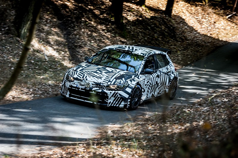 volkswagen u0026 39 s new wrc2 machine set for similar tests as