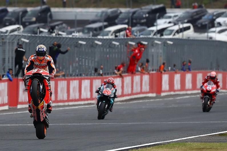 Marquez eases to Motegi MotoGP win ahead of Quartararo