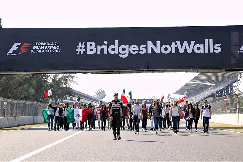 Sergio Perez Backs Anti Trump Policies Bridgesnotwalls