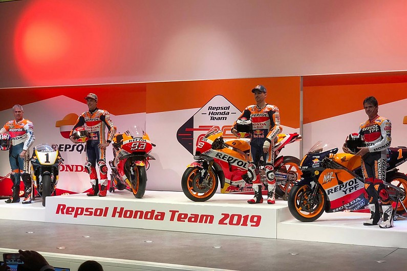 Honda Reveals 2019 Motogp Bike For Marquez And New Team Mate Lorenzo