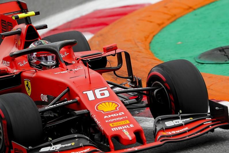 Italian Grand Prix practice: Charles Leclerc's Ferrari