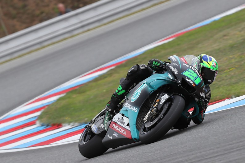 Morbidelli, Mir blame Zarco for first lap crash in Brno MotoGP race