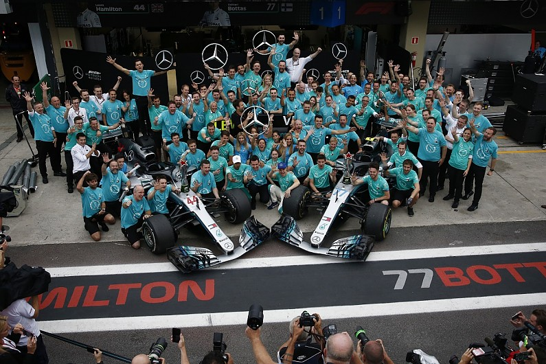mercedes f1 team to  u0026 39 go for broke u0026 39  now 2018 titles are
