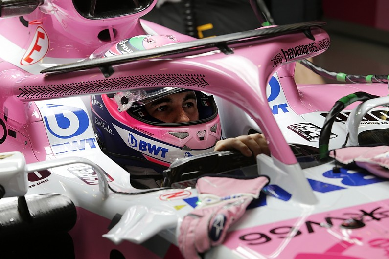c40540f873db Force India reveals season-long flip-flop sponsor for F1 halo - F1 -  Autosport