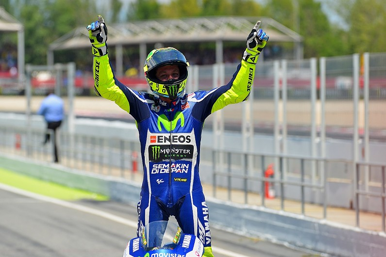 Barcelona MotoGP: Rossi defeats Marquez to win, Lorenzo taken out