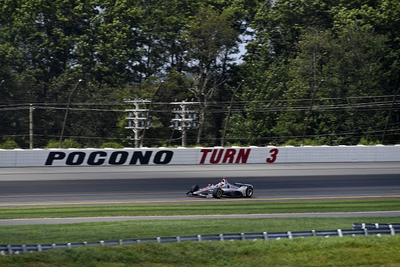 Penske's Power wins after early woe, crash mars Pocono IndyCar race
