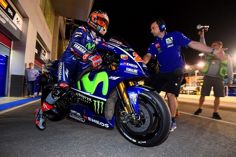 Qatar Motogp Vinales Leads Practice Again Lorenzo Consigned To Q1