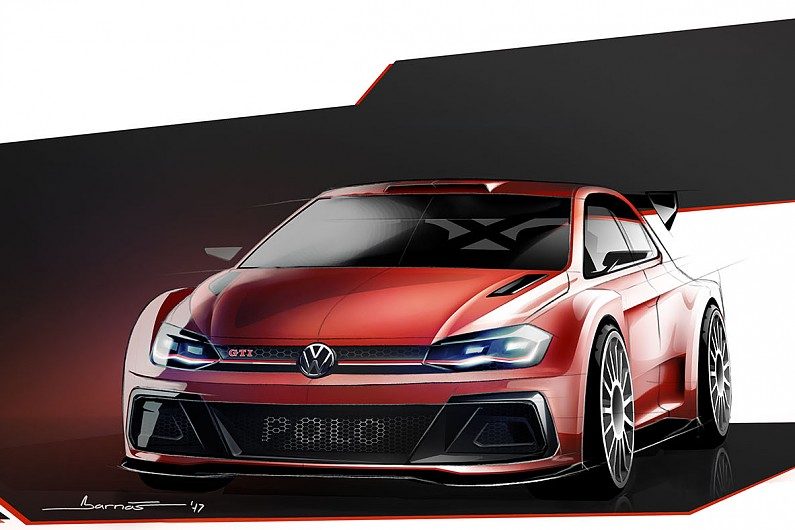 vw offers first look at its new polo gti r5 for 2018 wrc2 wrc autosport. Black Bedroom Furniture Sets. Home Design Ideas