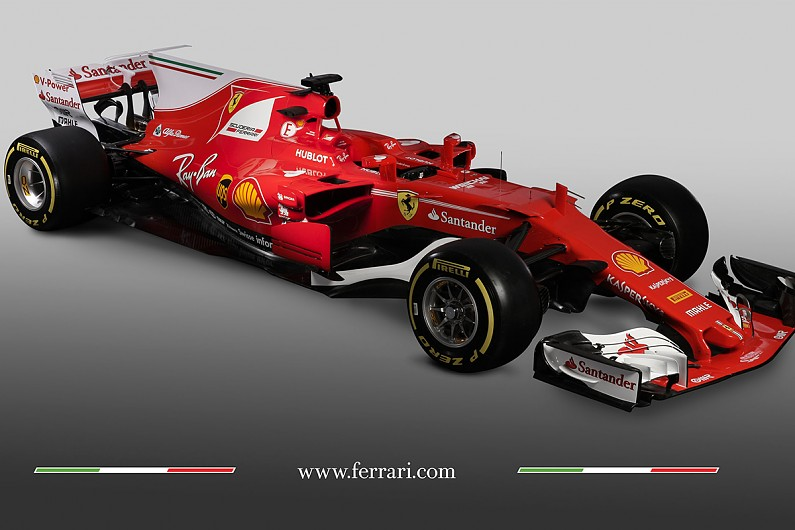 ferrari unveils its sf70h 2017 formula 1 car f1 autosport. Black Bedroom Furniture Sets. Home Design Ideas
