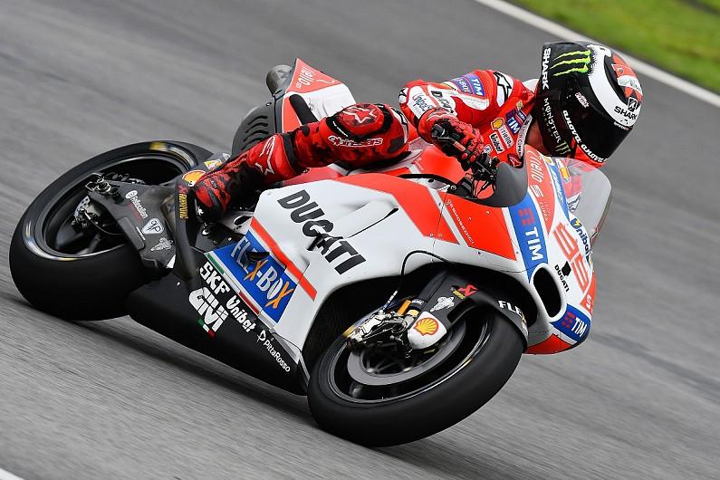 jorge lorenzo happier after initial ducati motogp test pace 'shock