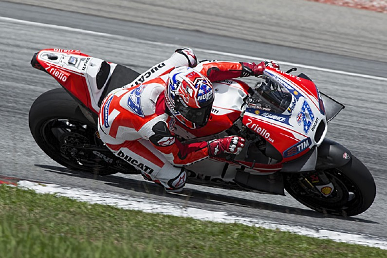 Casey Stoner Begins Ducati Motogp Test Return At Sepang